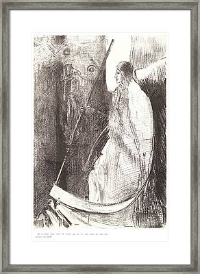 Odilon Redon French, 1840 - 1916. And Another Angel Came Framed Print by Litz Collection
