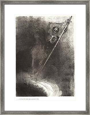 Odilon Redon French, 1840 - 1916. And His Name That Sat Framed Print by Litz Collection