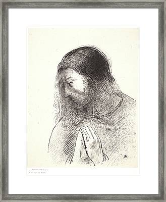 Odilon Redon French, 1840 - 1916. And I John Saw These Framed Print by Litz Collection