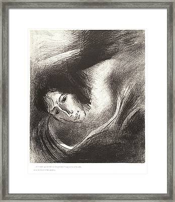 Odilon Redon French, 1840 - 1916. And The Devil That Framed Print by Litz Collection