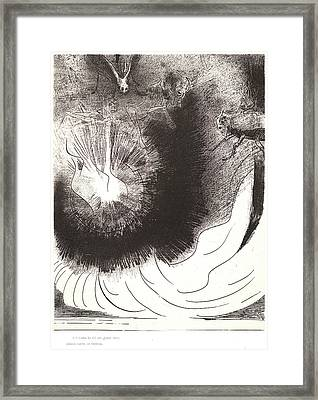 Odilon Redon French, 1840 - 1916. And There Fell A Great Framed Print by Litz Collection