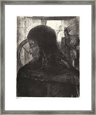 Odilon Redon French, 1840 - 1916. Old Knight Vieux Chevalier Framed Print by Litz Collection