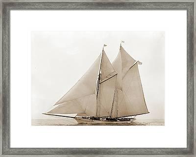 Oenone, Oenone Schooner, Yachts Framed Print by Litz Collection