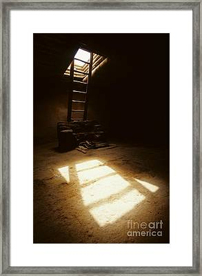 Of Light And Shadow Pecos Ruin Framed Print by Bob Christopher