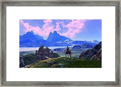 Of Many Knights Framed Print by Dieter Carlton