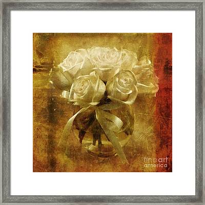 Of Roses And Lace Framed Print by Lois Bryan