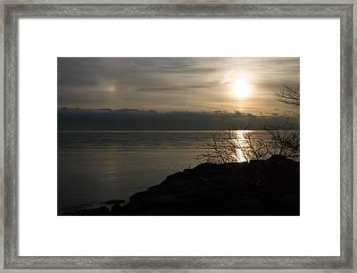 Of Sun Dogs And Rainbows Framed Print by Georgia Mizuleva
