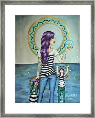 Of The Sea Framed Print by Lucy Stephens