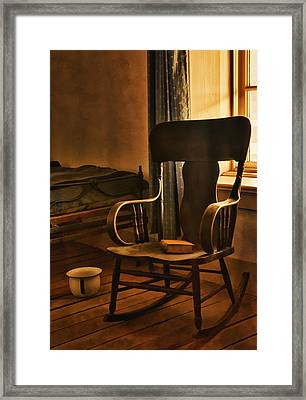 Off His Rocker Framed Print by Priscilla Burgers