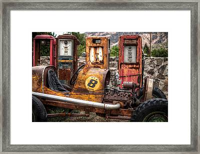 Off Road Gas Station Framed Print by Georg Beyer