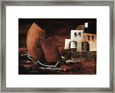 Off The Spanish Arches Framed Print by Val Byrne