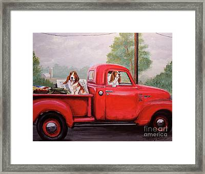 Off To Market Framed Print by Holly Connors