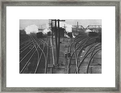 Off To Work Framed Print by J D Owen