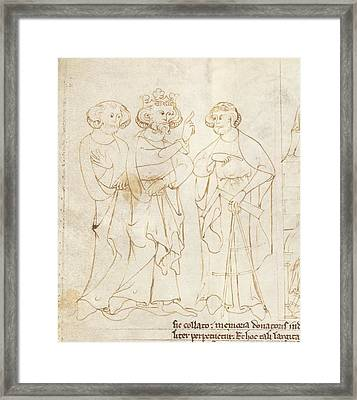 Offa And The Master Mason Framed Print by British Library