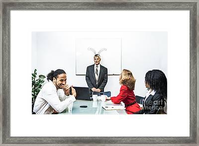 Office Prank Framed Print by Diane Diederich