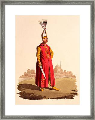 Officer Of The Janissaries, From The Framed Print by Thomas Charles Wageman