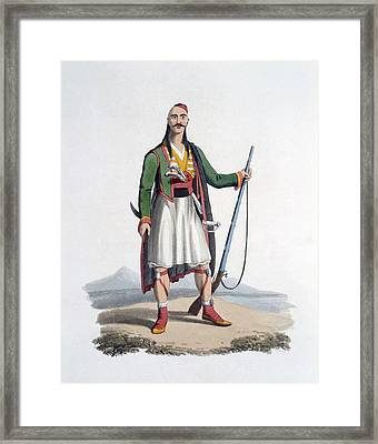 Officer Of The Spahis, 1818 Framed Print by English School