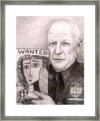 Officer Picasso Police Sketch Artist Framed Print by Jack Skinner