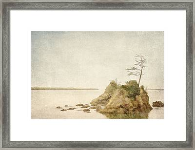 Offshore Rocks Oregon Coast Framed Print by Carol Leigh