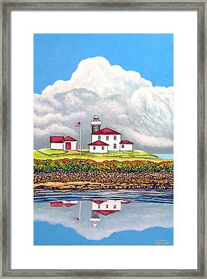 Offshore Thunderheads Framed Print by David Linton