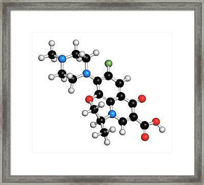 Ofloxacin Fluoroquinolone Antibiotic Drug Framed Print by Molekuul