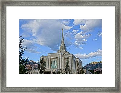 Ogden Temple Framed Print by Gloria Pasko