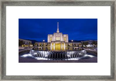 Ogden Temple II Framed Print by Chad Dutson