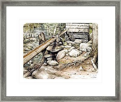 Ogle Grist Mill Framed Print by Bob  George