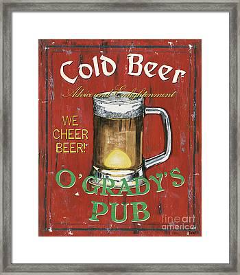 O'grady's Pub Framed Print by Debbie DeWitt