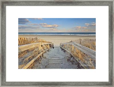 Ogunquit Beach Boardwalk Framed Print by Katherine Gendreau