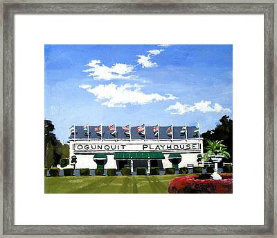 Ogunquit Playhouse Ogunquit Maine Framed Print by Christine Hopkins