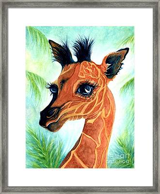 Oh Baby Giraffe Framed Print by Janine Riley