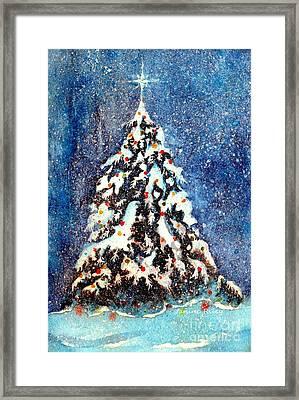 Oh Christmas Tree Framed Print by Janine Riley