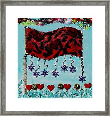 Oh Happy Days Flag Framed Print by Pepita Selles
