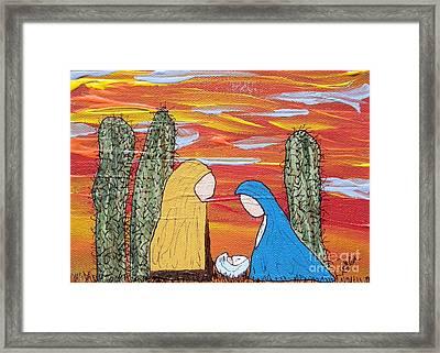 Oh Holy Desert Night Framed Print by Marcia Weller-Wenbert