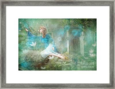 Oh Spring Oh Where Are You Framed Print by Angel  Tarantella