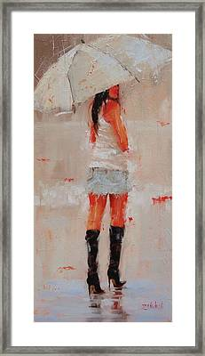 Oh Those Boots Framed Print by Laura Lee Zanghetti