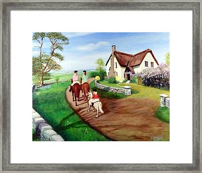 Oh To Be In England Framed Print by Ken Maddex