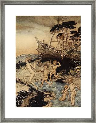 Oh What A Good Time Was That Framed Print by Arthur Rackham