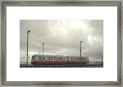 Ohare Airport Peoplemover Framed Print by Deborah Smolinske