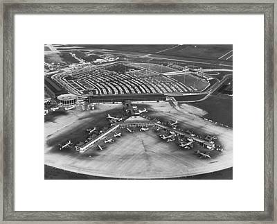 O'hare International Airport Framed Print by Underwood Archives