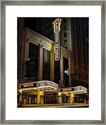 Ohio And State Theaters Framed Print by Frozen in Time Fine Art Photography