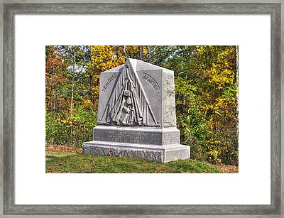 Ohio At Gettysburg - 29th Ohio Volunteer Infantry Autumn Mid-afternoon Culp's Hill Framed Print by Michael Mazaika