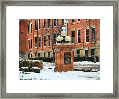 Ohio Northern University In Winter Framed Print by Dan Sproul