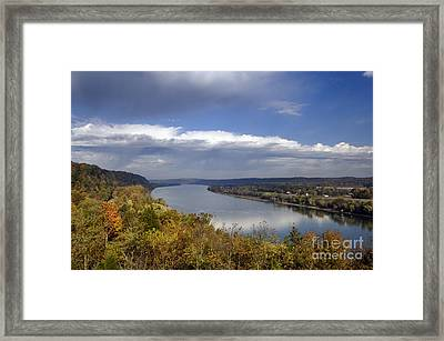 Ohio River - D003157 Framed Print by Daniel Dempster