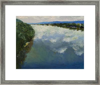 Ohio River Painting Framed Print by Michael Creese