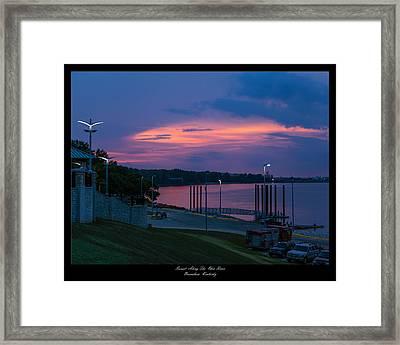Ohio River Sunset Framed Print by David Lester