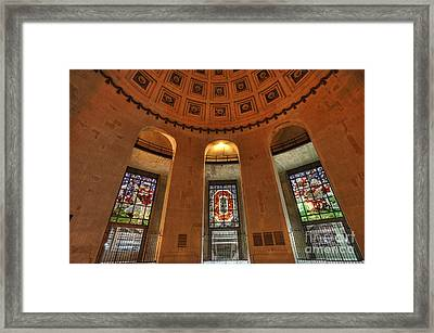 Ohio Stadium Framed Print by David Bearden