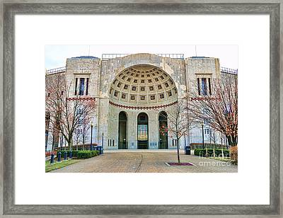 Ohio Stadium Main Entrance 1672 Framed Print by Jack Schultz