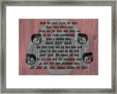 Ohio State Buckeyes Fight Song Framed Print by Dan Sproul